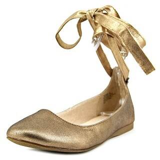 Steve Madden Bloome Women  Round Toe Leather Gold Flats