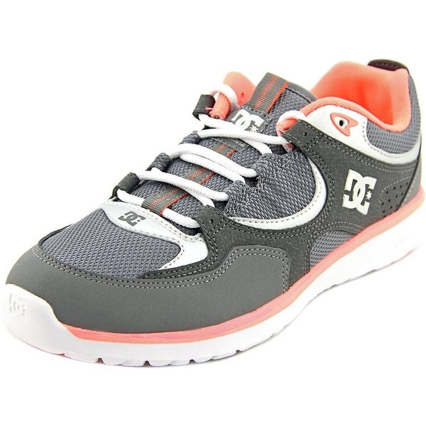 DC Shoes Kalis Lite Youth Round Toe Leather Gray Skate Shoe