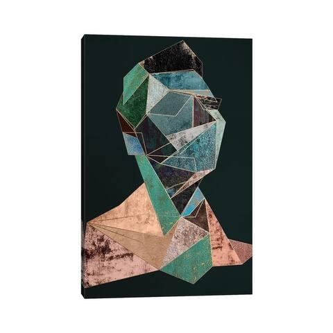 """iCanvas """"Man Cubism Diptych II"""" by Danilo de Alexandria Canvas Print"""