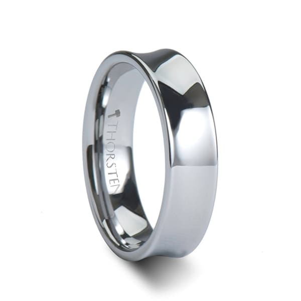 THORSTEN - CHELSEA Concave Tungsten Carbide Ring - 6mm