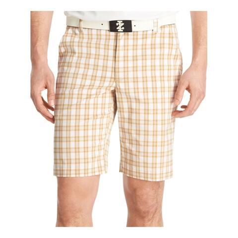 Izod Mens Plaid Golf Athletic Workout Shorts