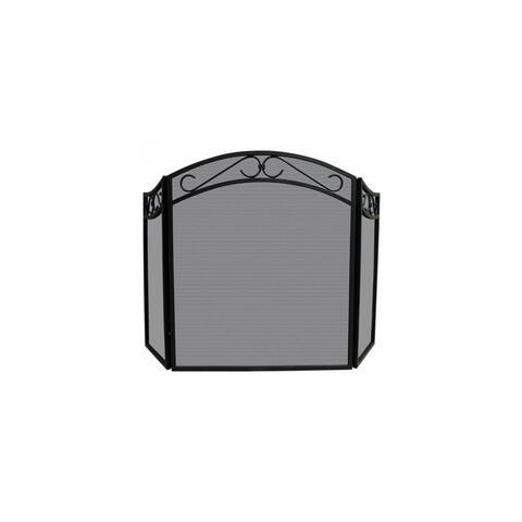Blue Rhino UniFlame Arch Top Screen - Black 3 Fold Arch Top Screen