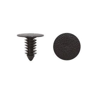 100pcs Black Plastic Car Trim Door Panel Plate Retainer Clips Rivet Fastener