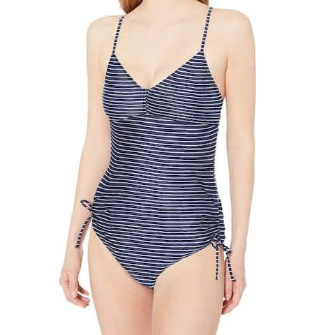 Prana Women's Swimsuit Blue Size Large L Moorea Striped One-Piece