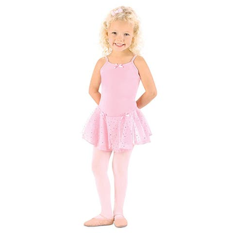 Danshuz Little Girl Pink Camisole Dots Skirt Ballet Leotard Size 2-10
