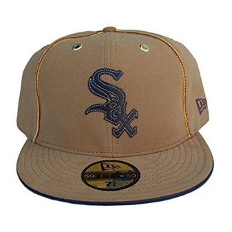 Shop MLB Chicago White Sox New Era 59Fifty Brown Suede Fitted Hat ... b638f1c561c