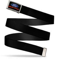 Ford Racing Fcg Black Blue Red  Chrome Ford Racing Full Color Black Web Belt