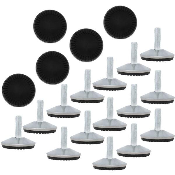 M10 x 30 x 50mm Screw on Furniture Glide Leveling Feet Adjustable Leveler Pad for Chair Industrial Machine Desk Leg 20pcs