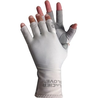 Link to Glacier Glove Islamorada Fingerless Sun Gloves - Light Gray Similar Items in Gloves