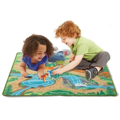 "Prehistoric Playground Dinosaur Activity Rug 39"" x 36"""