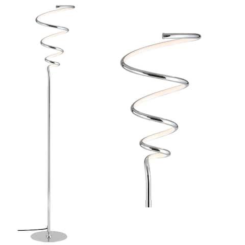 "Scribble 61"" Metal Integrated LED Floor Lamp, by JONATHAN Y"