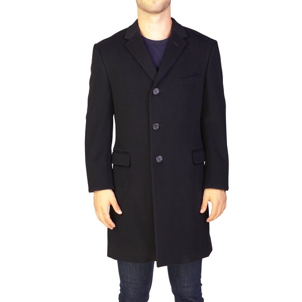 2bcdc32e60 Yves Saint Laurent Men  x27 s Virgin Wool Trench Coat Jacket Black - 42