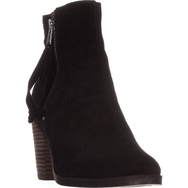 Lucky Brand Ramses Ankle Boots, Black Suede - 7 us / 37 eu