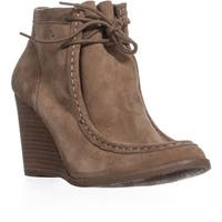 Lucky Brand Ysabel Wedge Ankle Booties, Sesame - 11 us / 41 eu