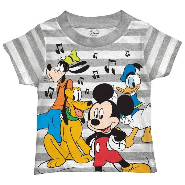 38d8de51784 Shop Disney Mickey Mouse Shirt Toddler Cut Off Print Mickey Goofy Pluto And  Donal Duck Characters Tee - Free Shipping On Orders Over  45 - Overstock -  ...