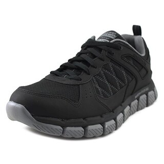 Skechers Flex 2.0 Men Round Toe Synthetic Black Sneakers