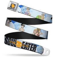Soul Eater Logo Full Color Black Orange Soul Eater 7 Character Poses Beach Seatbelt Belt