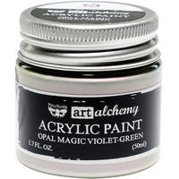 Finnabair Art Alchemy Acrylic Paint 1.7 Fluid Ounces-Opal Magic Violet/Green