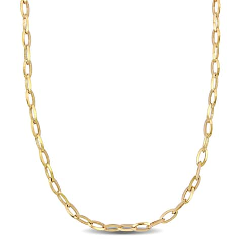 Miadora 18k Yellow Gold Oval Link Necklace