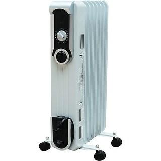World Marketing Eof260 Comfort Glow 1500W Stylish Oil Filled Radiator, White/Silver