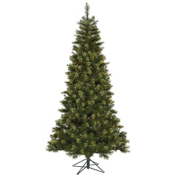 7.5' Pre-Lit Jack Pine Slim Artificial Christmas Tree - Clear LED Lights