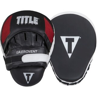 Title Boxing Excel Incredi-Mitts Aerovent Leather Punch Mitts - Black/White/Red