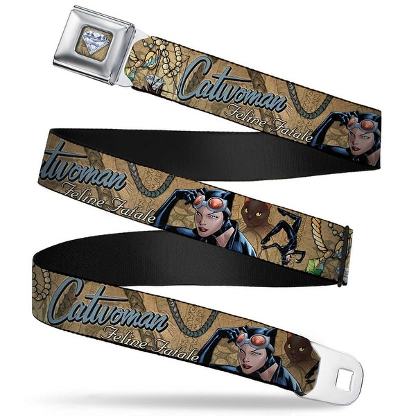 Catwoman Diamond Full Color Tans Catwoman Nine Lives Of A Feline Fatale Seatbelt Belt