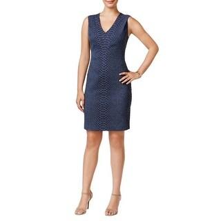 Tommy Hilfiger Snakeskin Print Sheath Dress Blue - 6