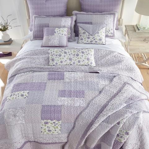 Donna Sharp Lavender Rose Quilt Set