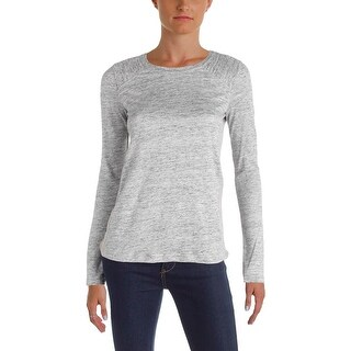 Marc by Marc Jacobs Womens Pullover Top Linen Heathered