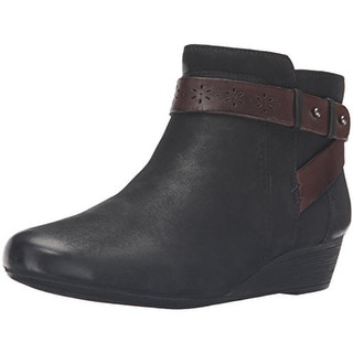 Rockport Womens Joy Ankle Boots Suede Wedge - 10 medium (b,m)