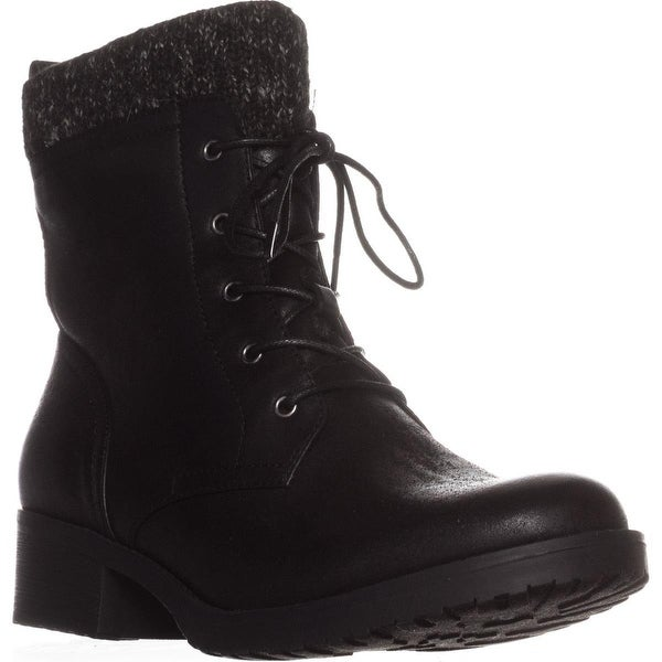 BareTraps Onnabeth Lace-Up Combat Boots, Black