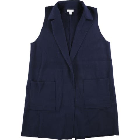 Charter Club Womens Sleeveless Sweater Vest, blue, 0X