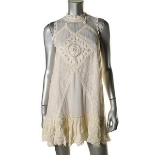 Free People Womens Angel Lace Open Back Casual Dress