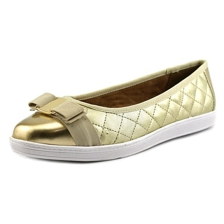 Soft Style by Hush Puppies Faeth Women  Round Toe Leather Gold Flats