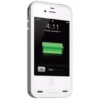 Mophie Juice Pack Plus Battery Backup for Apple iPhone 4/4S (2000 mAh) - White