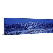 Premium Thick-Wrap Canvas entitled Tourists at a ski resort, Mt Werner, Steamboat Springs, Routt County, Colorado,