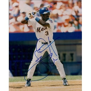Signed Everett Carl New York Mets 8x10 Photo autographed