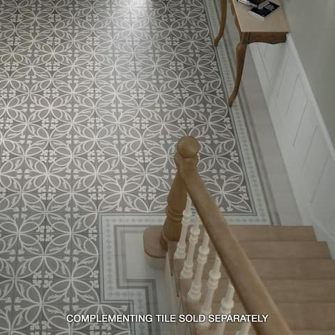 SomerTile 7.875x7.875-inch Piccola Liberty Taupe Porcelain Floor and Wall Tile