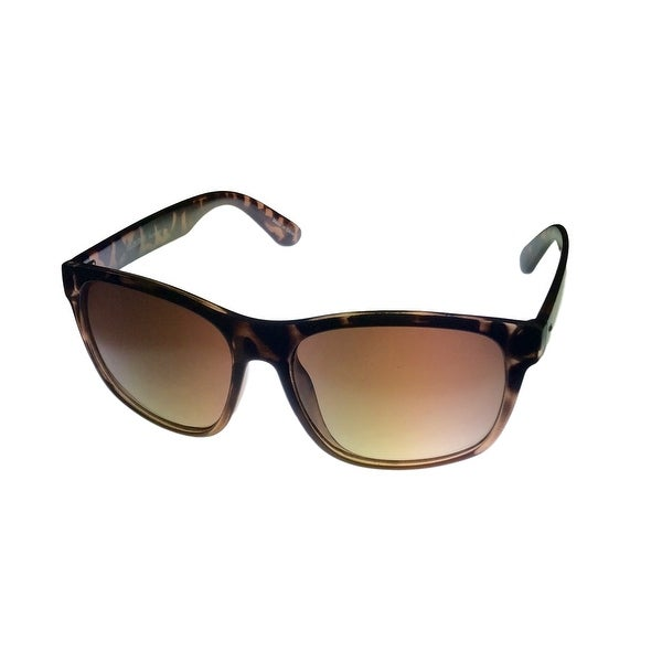 Ellen Tracy Sunglass Womens ET 560 1 Demi Square Fashion Sunglass - Medium