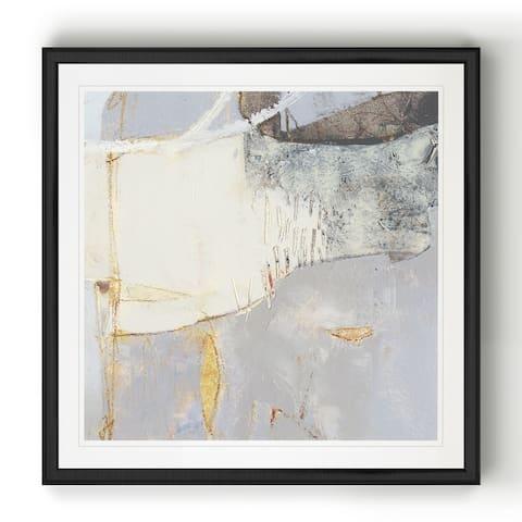 Pique II -Black Framed Print
