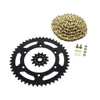 CZ ORHG X-Ring Chain and Black Sprocket Suzuki RM125 1990 - 2008 13/47 114L