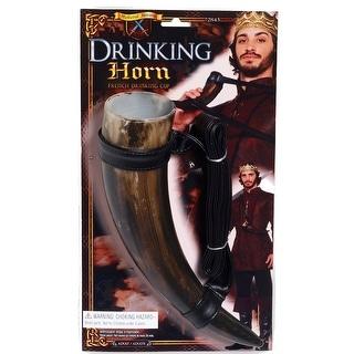 Medieval Fantasy Drinking Horn Costume Prop