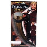 Medieval Fantasy Drinking Horn Costume Prop - Brown