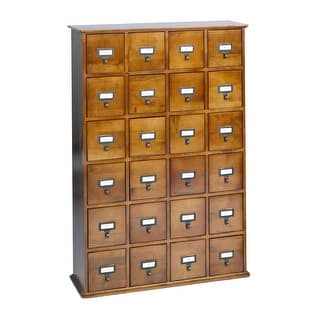 Library Catalog Media Storage Cabinet - 24 Drawer Stores 456 CDs/ DVDs - Walnut|https://ak1.ostkcdn.com/images/products/is/images/direct/f76fc1c0a522c280894e95e5655c0f3b7a5dad54/Library-Catalog-Media-Storage-Cabinet---24-Drawer-Stores-456-Cds--Dvds---Walnut.jpg?impolicy=medium