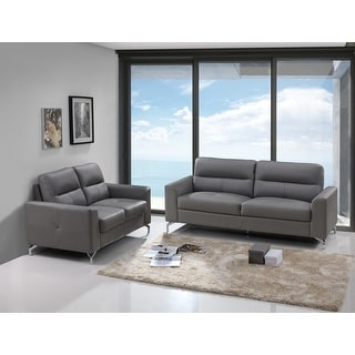 Link to Renquist Top Grain Leather Modern Sofa & Loveseat Set Similar Items in Living Room Furniture