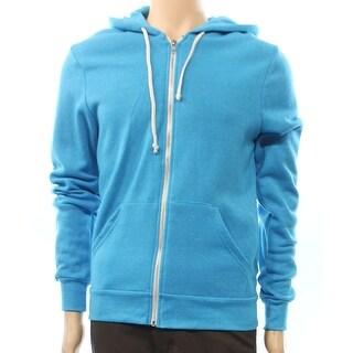 Alternative NEW Blue Hooded Mens Size Medium M Full Zip Swearer