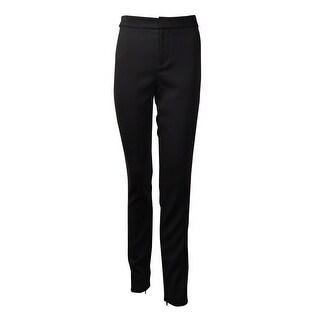 Polo Ralph Lauren Women's Wool Blend Zip-Hem Skinny Pants - polo black