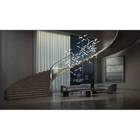 Sonneman Lighting Ballet 24-Light Satin Black Swag LED Pendant