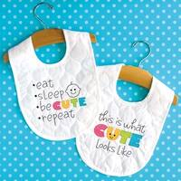 "Cute Bibs - Dimensions Stamped Cross Stitch Kit 9.5""X15.5"" 2/Pkg"